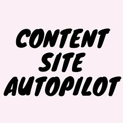 Content Site Autopilot