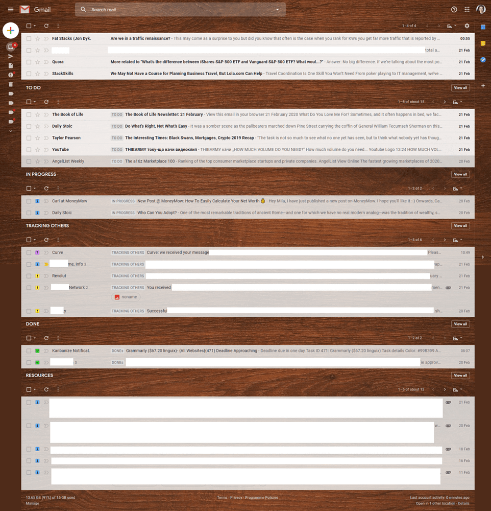 """My current """"flow"""" is built-in Gmail to replicate a Kanban board"""